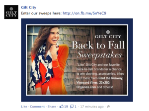 Gilt City Back to Fall Sweepstakes
