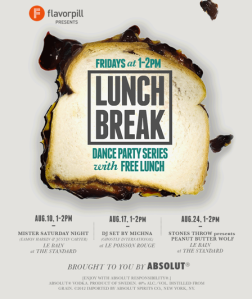 Flavorpill Lunch Break Dance Party Landing Page Promotion