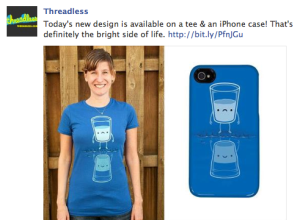 Threadless iPhone cases- Get rid of the old