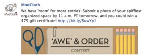 ModCloth Facebook Contest