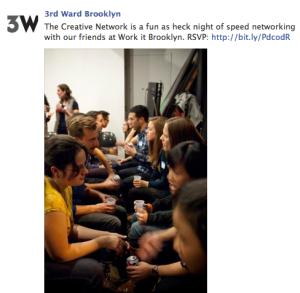 3rd Ward Speed Networking Class Facebook Post