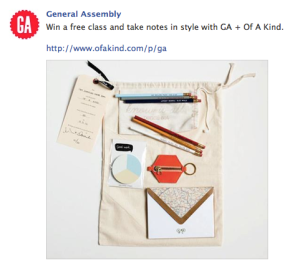 General Assembly + OfAKind Facebook Contest