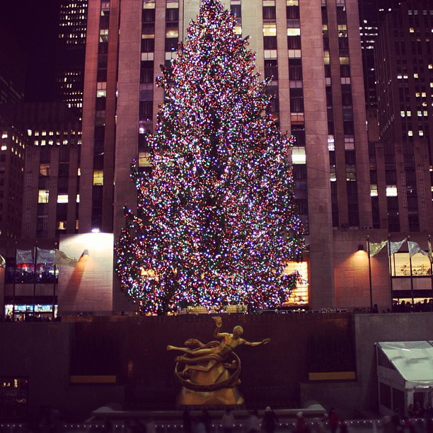 Rockefeller Christmas Tree NYC 2012 #ChristmasInNY