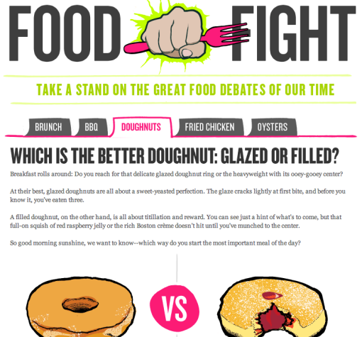 Food Fight Tasting Table  Campaign