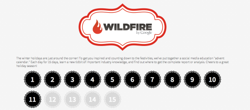 Social Media Advent Calendar from WildFire and Google