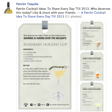 Patron Holiday Cocktail Campaign Facebook
