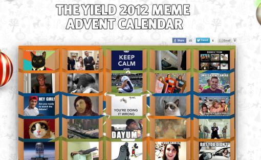 The Yield Advent Calendar 2012 Memes