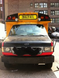 Moustache School Bus