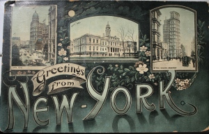 Greeting from NY Vintage Postcard