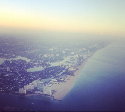 Florida coast from an airplane