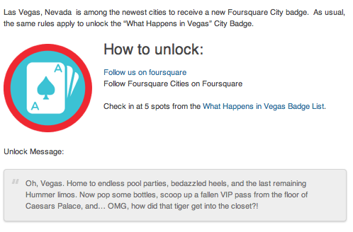 Foursquare Las Vegas Badge