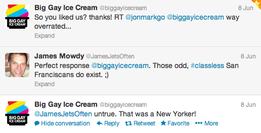 Do you like us? Big Gay Ice Cream Tweet Response
