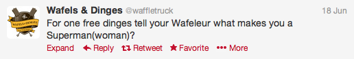wafles and dinges truck twitter account