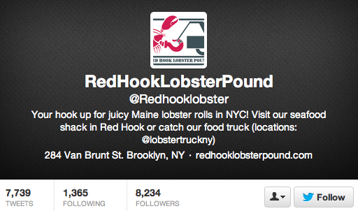 Red Hook Lobster Truck Twitter