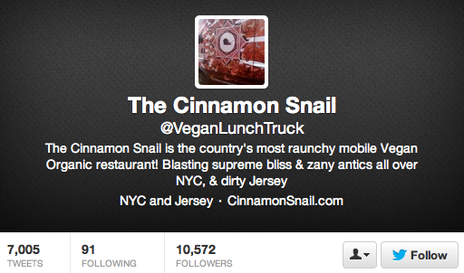The Cinnamon Snail Twitter Account